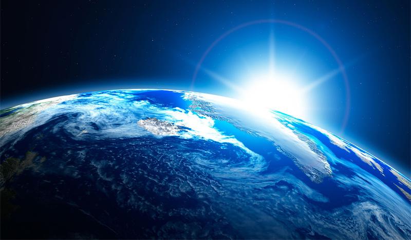 planeta terra magia azul celeste